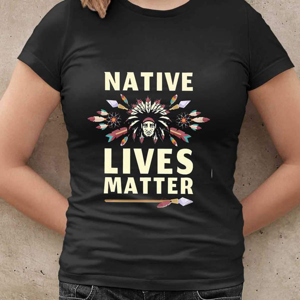 Native Lives Matter Chief T-shirt S By AllezyShirt