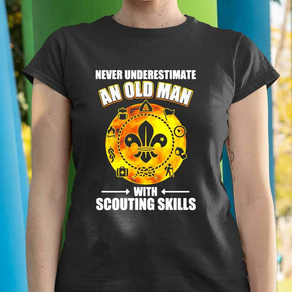 Never Underestimate An Old Man With Scouting Skills T-shirt M By AllezyShirt