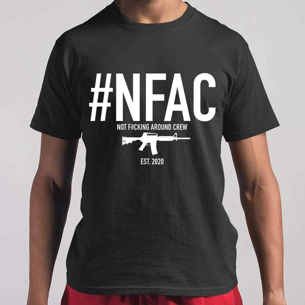 Nfac Not Fcking Around Crew Gun T-shirt M By AllezyShirt