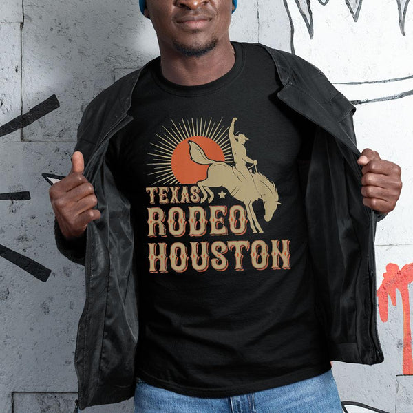 Nice Houston Texas Rodeo Vintage Western Retro Cowboy Shirt S By AllezyShirt