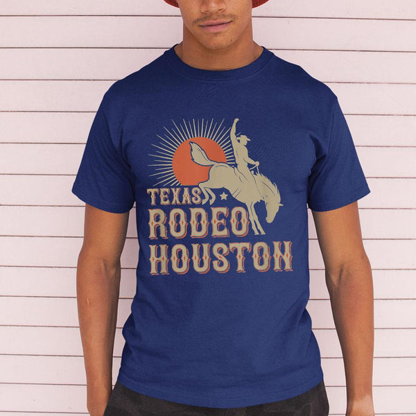 Nice Houston Texas Rodeo Vintage Western Retro Cowboy Shirt M By AllezyShirt