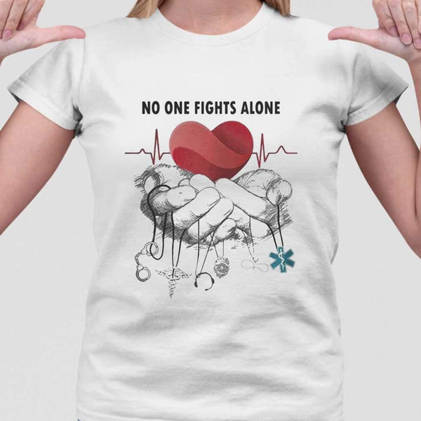 No One Fights Alone Jobs Heartbeat T-shirt M By AllezyShirt