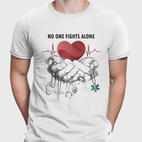 No One Fights Alone Jobs Heartbeat T-shirt S By AllezyShirt