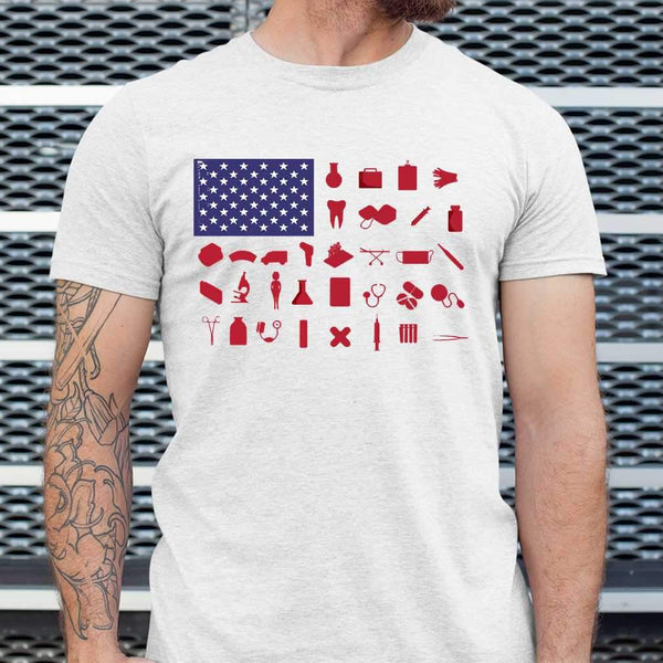 Nurse Independence Day American Flag T-shirt S By AllezyShirt