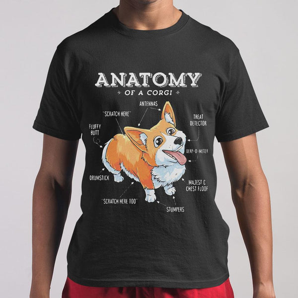 Official Anatomy Of A Corgi T-shirt M By AllezyShirt