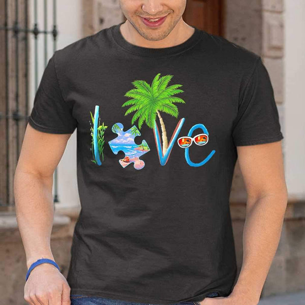 Official Autism Love Beach T-shirt S By AllezyShirt