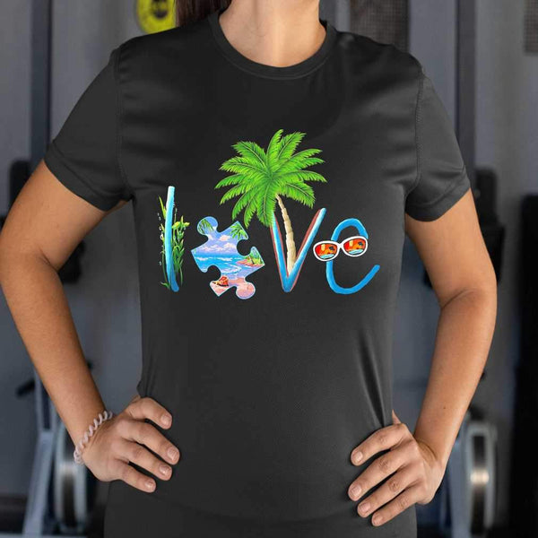 Official Autism Love Beach T-shirt M By AllezyShirt