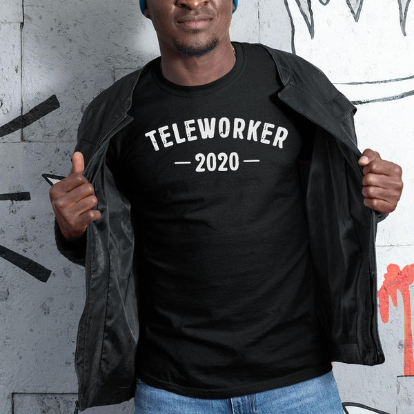 Official Teleworker 2020 Black Shirt S By AllezyShirt