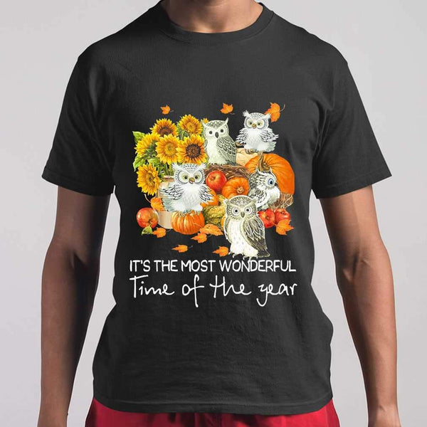 Owls Gang It's The Most Wonderful Time Of The Year T-shirt M By AllezyShirt