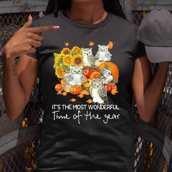 Owls Gang It's The Most Wonderful Time Of The Year T-shirt S By AllezyShirt
