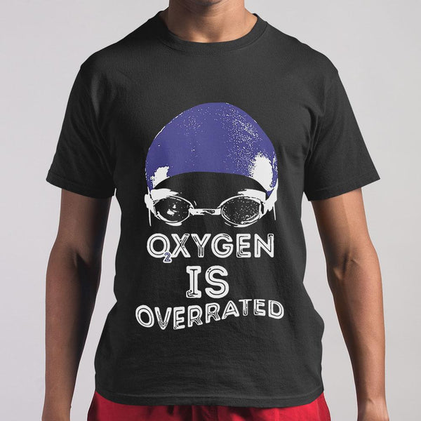 Oxygen Is Overrated Swimming Swim Team Shirt M By AllezyShirt