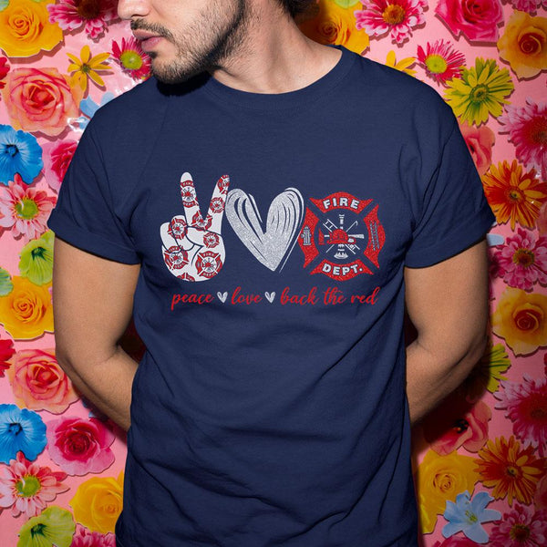 Peace Love Back The Red Shirt M By AllezyShirt