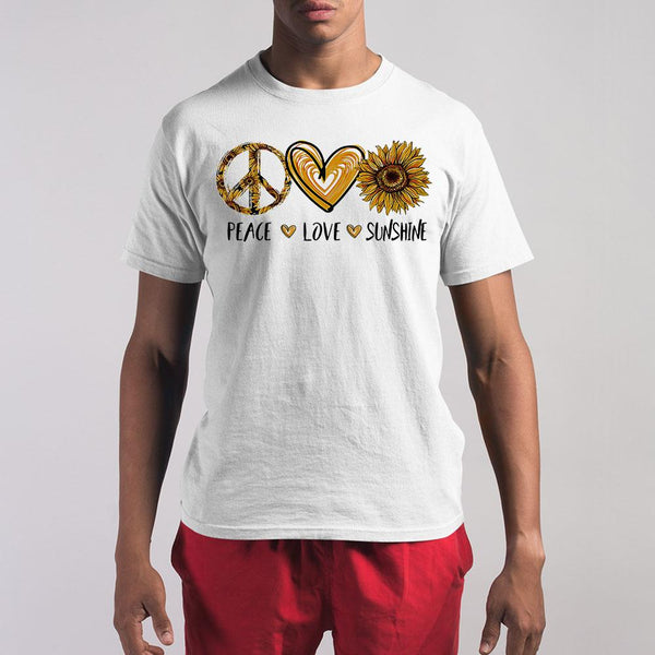 Peace Love Sunshine Sunflower Shirt S By AllezyShirt