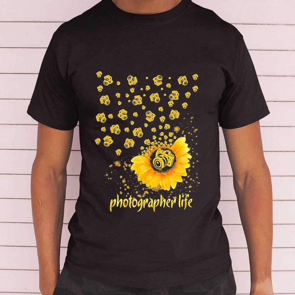 Photographer Life Sunflower T-shirt S By AllezyShirt