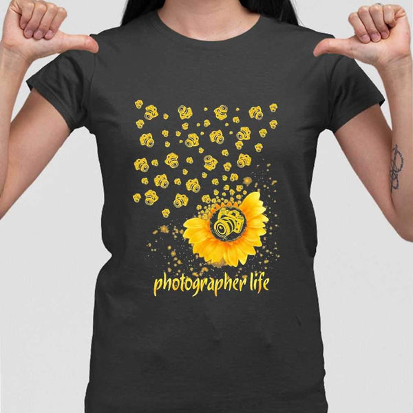 Photographer Life Sunflower T-shirt M By AllezyShirt