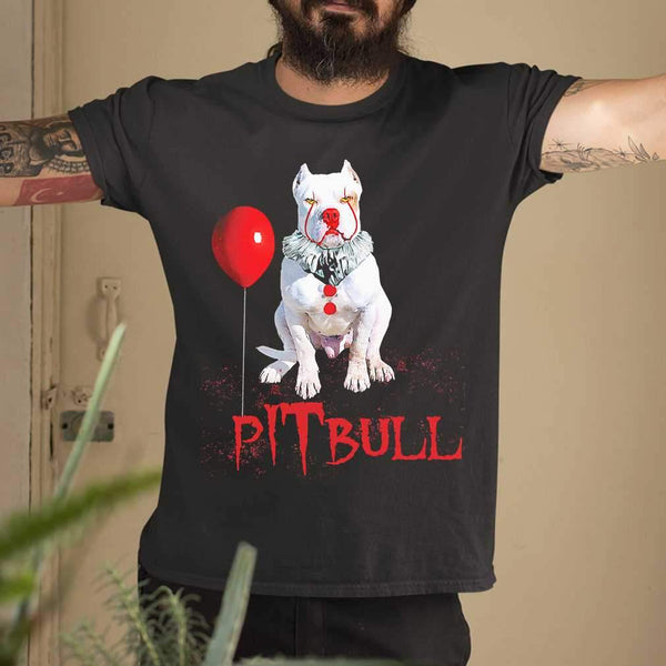 Pitbull Horror Balloon Halloween T-shirt M By AllezyShirt