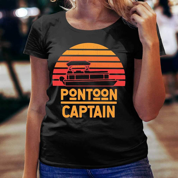 Pontoon Captain Vintage Retro T-shirt S By AllezyShirt