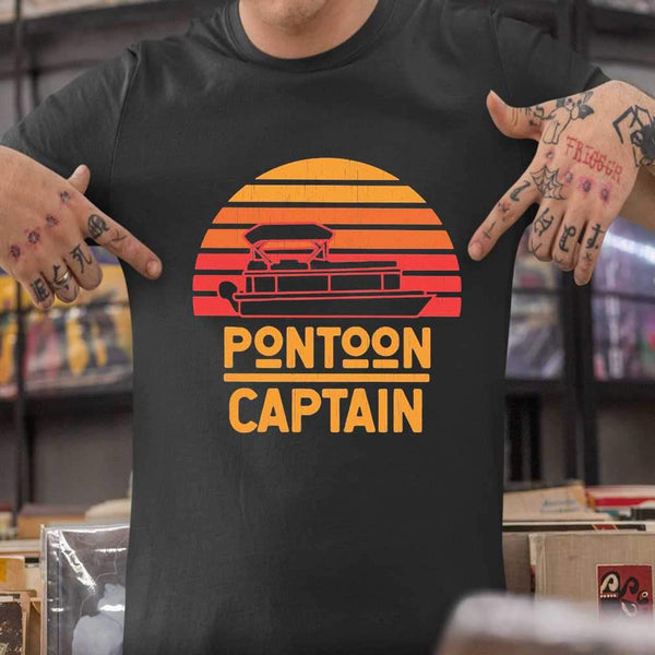 Pontoon Captain Vintage Retro T-shirt M By AllezyShirt