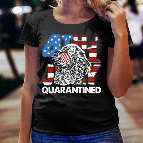Poodles 4Th Of July Merica Quarantined Gifts Funny T-shirt S By AllezyShirt