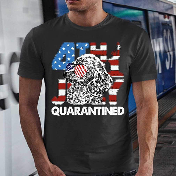 Poodles 4Th Of July Merica Quarantined Gifts Funny T-shirt M By AllezyShirt