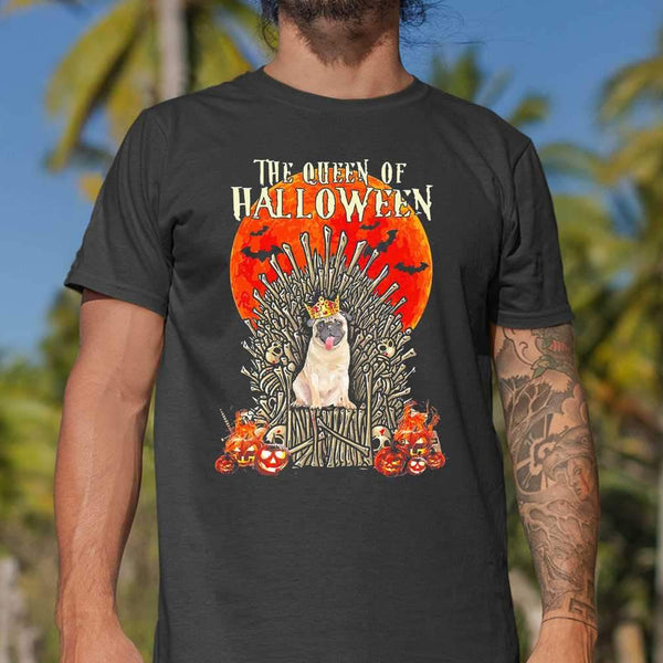 Pug Dog The Queen Of Halloween Blood Moon T-shirt S By AllezyShirt