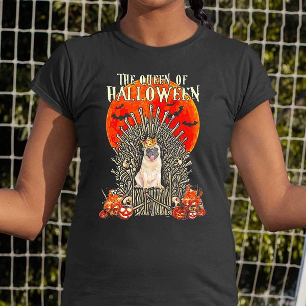 Pug Dog The Queen Of Halloween Blood Moon T-shirt M By AllezyShirt