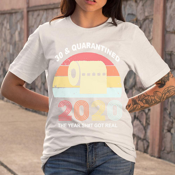 Quarantine Birthday 2020 Toilet Paper Vintages T-shirt M By AllezyShirt