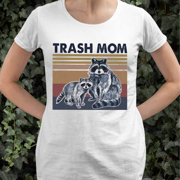 Raccoon Trash Mom Vintage Retro T-shirt S By AllezyShirt