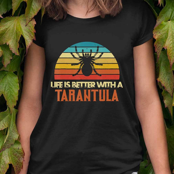 Retro Vintage Funny Spider Life Is Better With Tarantula T-shirt S By AllezyShirt