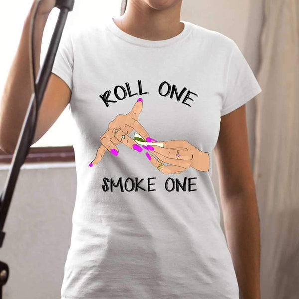Roll One Smoke One Weed T-shirt S By AllezyShirt