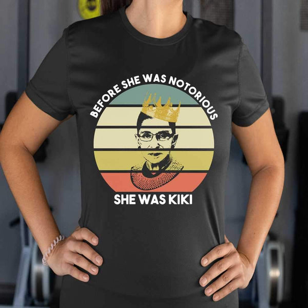 Ruth Bader Ginsburg Crown Before She Was Notorious She Was Kiki Vintage T-shirt M By AllezyShirt
