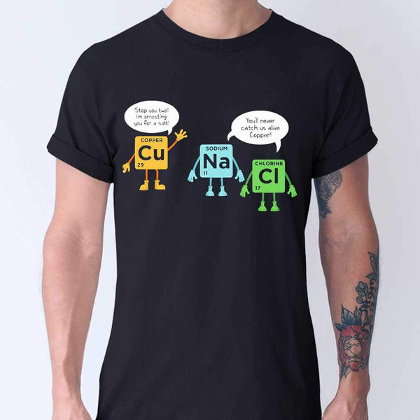 Scientist Stop You Two Cu Na Ci Chemistry T-shirt M By AllezyShirt