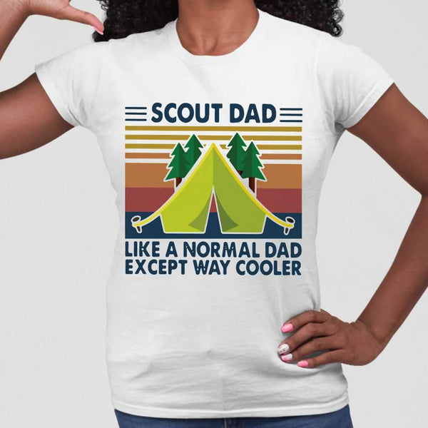 Scout Dad Like A Normal Dad Except Way Cooler Vintage T-shirt M By AllezyShirt