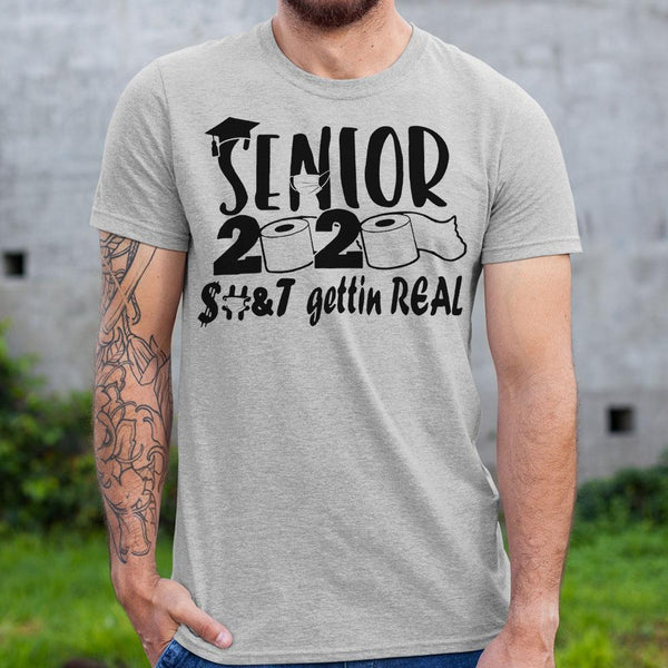 Senior 2020 Toilet Paper Gettin Real Shirt M By AllezyShirt