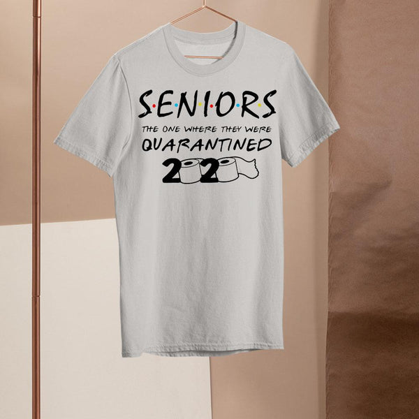 Senior The One Where They Were Quarantined 2020 Toilet Paper Shirt M By AllezyShirt