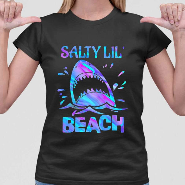 Shark Salty Little Beach T-shirt M By AllezyShirt