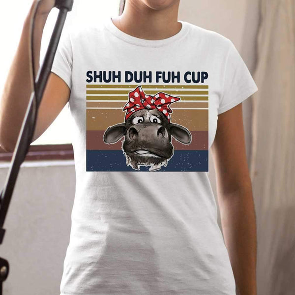 Shuh Duh Fuh Cup Cow Vintage Retro T-shirt S By AllezyShirt