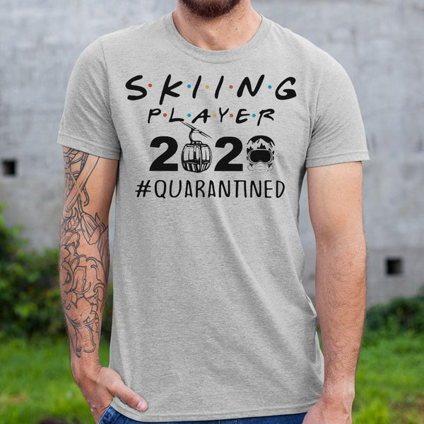 Skiing Player 2020 Quarantined Covid-19 Shirt S By AllezyShirt