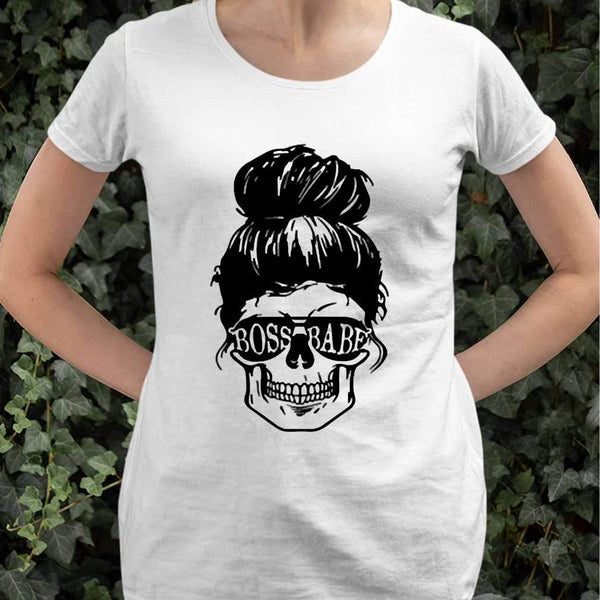 Skull Boss Babe T-shirt M By AllezyShirt