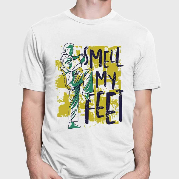 Smell My Feet Karate T-shirt M By AllezyShirt