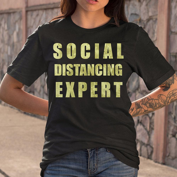 Social Distancing Expert T-shirt M By AllezyShirt