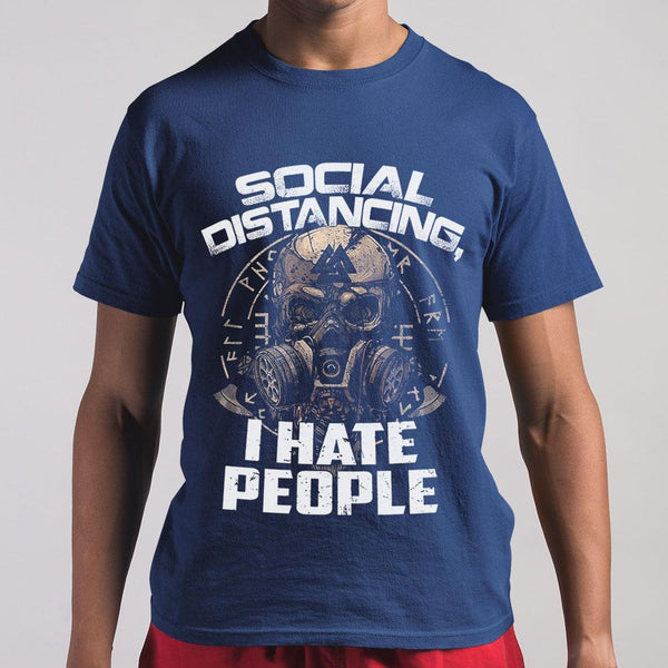 Social Distancing I Hate People Shirt S By AllezyShirt