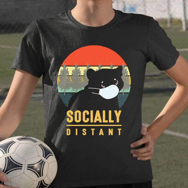 Socially Distant Bear Mask Vintage T-shirt S By AllezyShirt