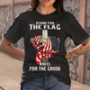 Stand For The Flag Kneel For The Cross T-shirt M By AllezyShirt