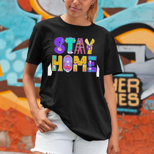 Stay Home Cartoon Shirt M By AllezyShirt