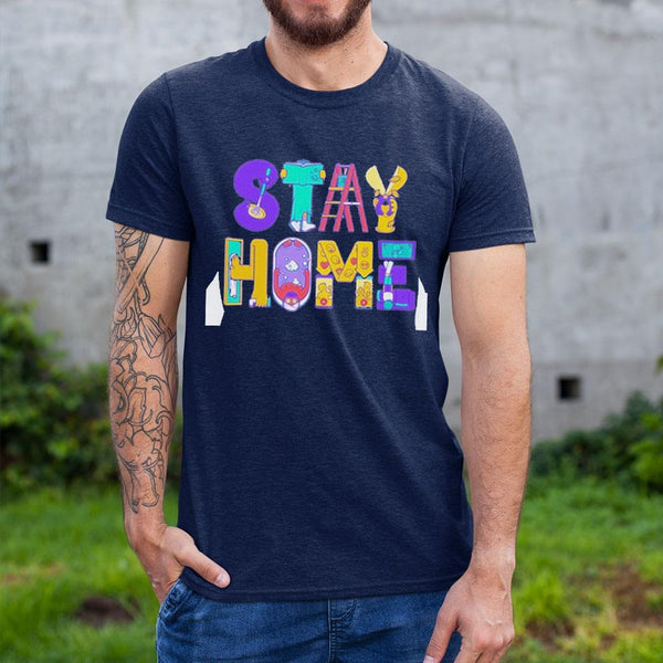 Stay Home Cartoon Shirt S By AllezyShirt