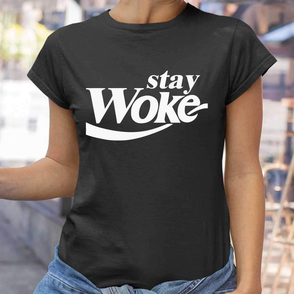 Stay Woke Coke Coffee T-shirt S By AllezyShirt