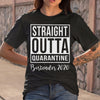 Straight Outta Quarantine Bartender 2020 Shirt S By AllezyShirt