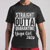 Straight Outta Quarantine Yoga Girl 2020 Covid-19 M By AllezyShirt