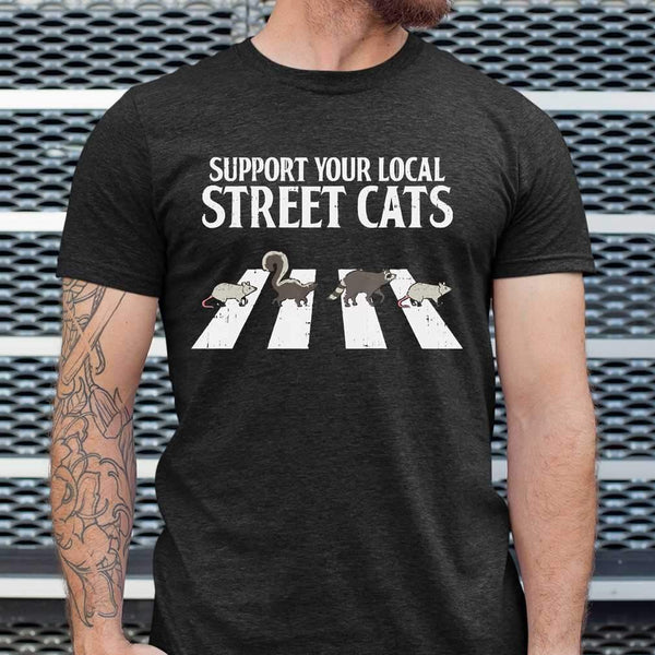 Support Your Local Street Cats Parody Racoon Skunk Opossum T-shirt S By AllezyShirt